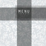 Elegant restaurant menu design Royalty Free Stock Images