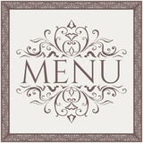 Elegant Restaurant Menu design. Vector Stock Photo