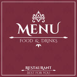 Elegant Restaurant Menu design Stock Photos