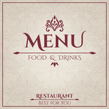 Elegant Restaurant Menu design Stock Image