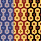 Elegant retro art deco/art nuvo seamless set of patterns. In three wonderfull colors for print and web stock illustration