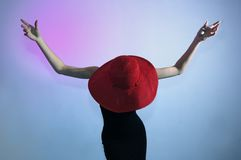 Elegant retro fashion with hat Stock Photo