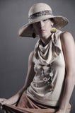 Elegant retro female Stock Images