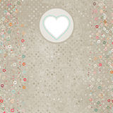 Elegant retro light card with hearts. EPS 8 Royalty Free Stock Images