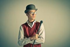 Elegant retro man. Rich. Elegant young man. Retro portrait Stock Photography
