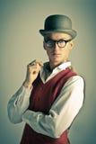 Elegant retro man. Rich. Elegant young man. Retro portrait Stock Images