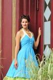 Elegant retro modelady Royaltyfri Foto