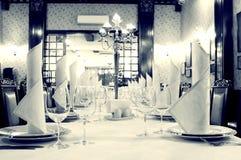 Elegant retro restaurant Royalty Free Stock Images