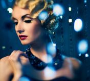 Elegant retro woman Royalty Free Stock Photos