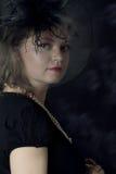 Elegant retro woman in veil Royalty Free Stock Images