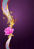 Elegant  ribbon and  rose Royalty Free Stock Images