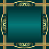 Elegant rich Background decorated ornate Borders Stock Images