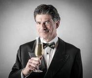 Elegant rich man stock photo
