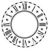 Elegant roman clock. stock illustration