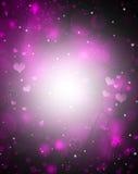 Elegant romantic festive background. Elegant romantic background with hearts bokeh Royalty Free Stock Photography
