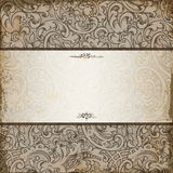 Elegant romantic invitation. With floral background Royalty Free Stock Photography