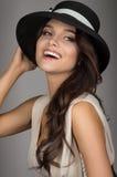 Elegant romantic young woman Stock Photos