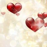 Elegant rood aanplakbord met harten. EPS 10 Royalty-vrije Stock Foto