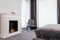 Elegant room with zebra pattern armchair Stock Photo