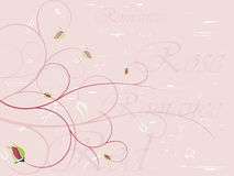 Elegant rose background. With grunge layer.  More floral backgrounds in my portfolio Royalty Free Stock Photo
