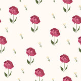 Elegant rose seamless pattern background Royalty Free Stock Photo