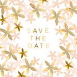 Elegant rosy beige floral pattern Royalty Free Stock Images