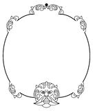 Elegant round frame Royalty Free Stock Image