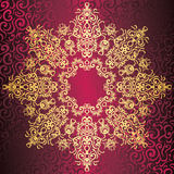 Elegant round lace pattern Stock Images