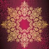 Elegant round lace pattern Stock Images