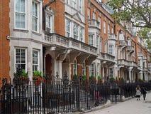 Elegant row of townhouses Stock Photo