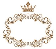 Elegant royal frame with crown Royalty Free Stock Images