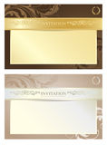Elegant Royal Invitation Set, Vector Illustration Royalty Free Stock Photography