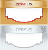 Elegant Royal Invitation Set Royalty Free Stock Image