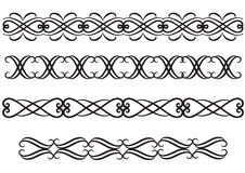 Elegant rule lines or borders Stock Image
