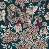 Elegant rustic pattern with flowers Royalty Free Illustration