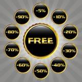 Elegant sale badges Royalty Free Stock Photos