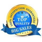 Elegant Sales label. Satisfaction guaranteed. Top Quality. Royalty Free Stock Image