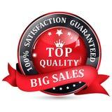 Elegant Sales label. Satisfaction guaranteed. Top Quality. Stock Image