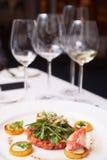 Elegant salmon tartare Stock Image