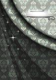 Elegant satängaffisch för berömmar i gråa beigea färger Arkivfoton