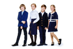 Elegant school children Stock Photos