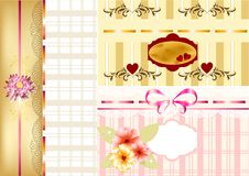 Elegant scrapbooking set or greeting cards Royalty Free Stock Photo