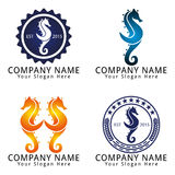 Elegant Seahorse Concept Logo Stock Photography