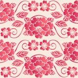 Elegant seamless Chinese style botanic garden flower pattern background stock illustration