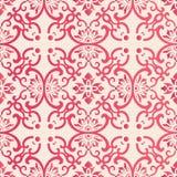 Elegant seamless Chinese style botanic garden flower spiral curve cross vine pattern background royalty free illustration