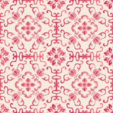 Elegant seamless Chinese style botanic garden flower spiral curve cross vine pattern background vector illustration