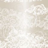 Elegant seamless floral pattern background with ornament Stock Images