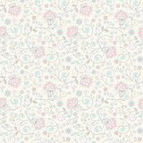 Elegant seamless floral pattern. Delicate background in pastel colors. Wedding pattern Stock Photography