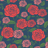 Elegant seamless floral pattern with roses Royalty Free Stock Photo