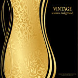 Elegant seamless gold wallpaper Stock Photo